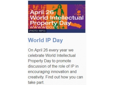 World Intellectual Property Day – April 26, 2017